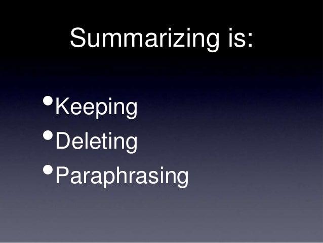 Summarizing Powerpoint