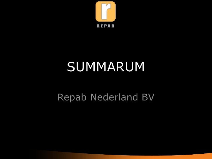 SUMMARUM Repab Nederland BV