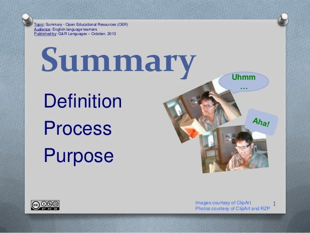 Topic: Summary - Open Educational Resources (OER) Audience: English language learners Published by: G&R Languages – Octobe...