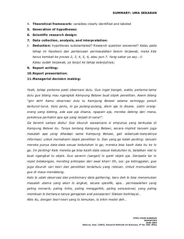 theoretical framework step 4 of the sekaran bougie process Hw-227 research methodology week-2 ip: a 2-3 page theoretical framework (step 4 of the sekaran process) use the components of a theoretical framework.