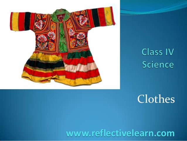 Clothes www.reflectivelearn.com