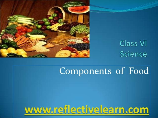 Components of Food www.reflectivelearn.com