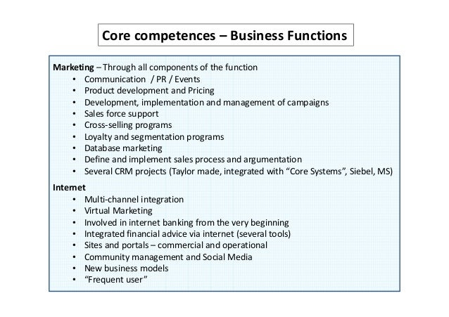 summary core competencies