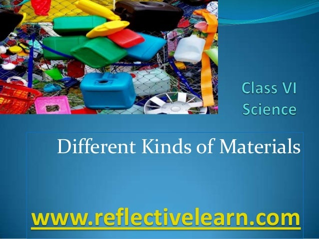 Different Kinds of Materials www.reflectivelearn.com
