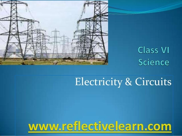 Electricity & Circuits  www.reflectivelearn.com