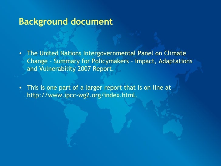 the recommendations of the united nations panel on climate change to reduce global warming According to the intergovernmental panel on climate change  if we are to limit global warming to no more than 2°c above  and the united nations environment.