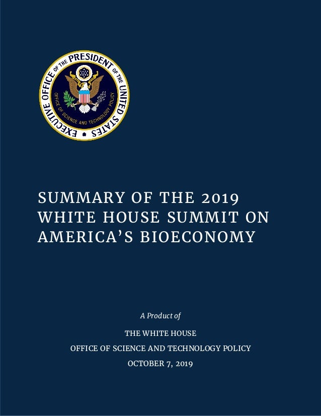 2019 Progress Report: Federal R&D for Advanced Artificial Intelligence Technologies ii SUMMARY OF THE 2019 WHITE HOUSE SUM...