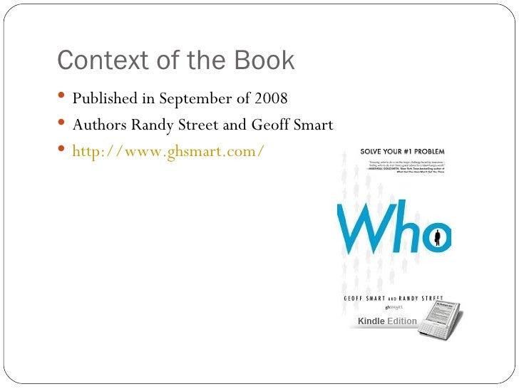 Who book summary