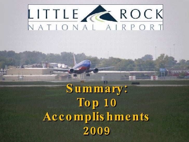 2009 in Review  & The Airport Commission's  2020 Vision