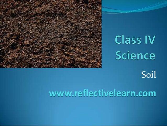 Soil www.reflectivelearn.com