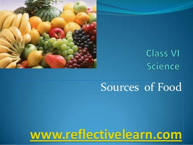 Sources of Food  www.reflectivelearn.com