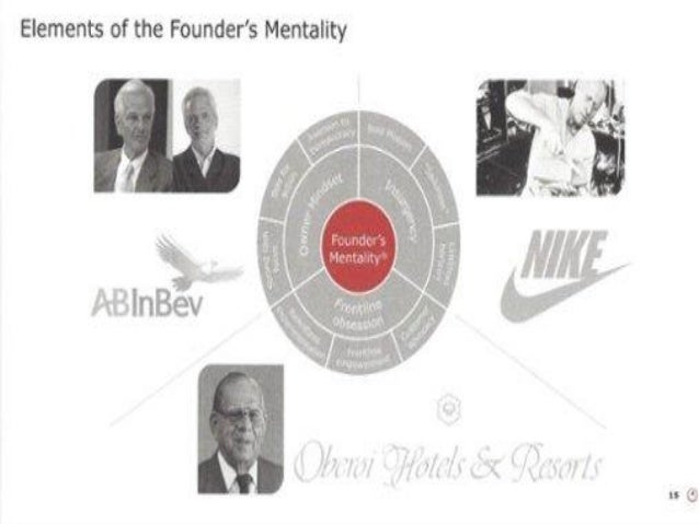 AB In Bev- Owner's Mindset  AB In Bev's executives devote a lot of time and energy to fostering this culture.  As one ma...