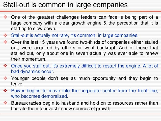  Sell underperforming business units  Re-empower frontline executives in senior meetings  Simplify/take out complexity ...