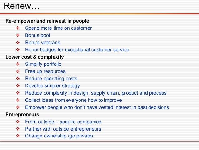 The Actions to Ponder are …  Make the case for change with your people. Are parts of the business model becoming obsolete...