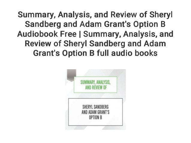 Summary    Analysis    and Review of Sheryl Sandberg and