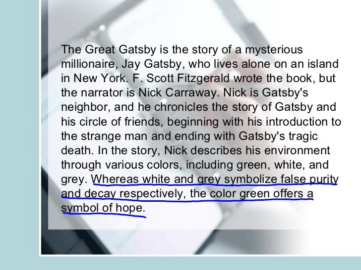 Introduction of great gatsby essay