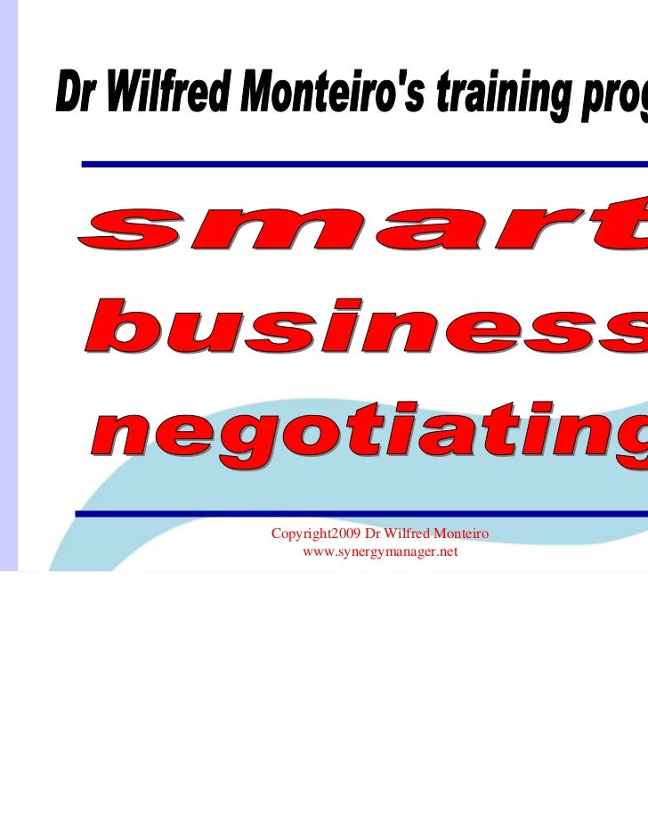 Copyright2009 Dr Wilfred Monteiro    www.synergymanager.net