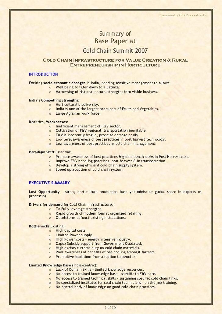 Summarised by Capt. Pawanexh Kohli                                          Summary of                                    ...