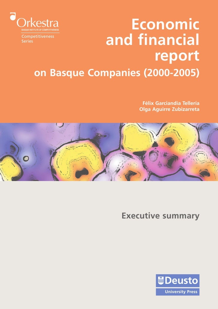 Economic Competitiveness Series                   and financial                          report      on Basque Companies (...