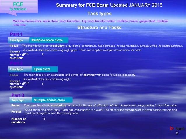 FCE - Information Slide 3