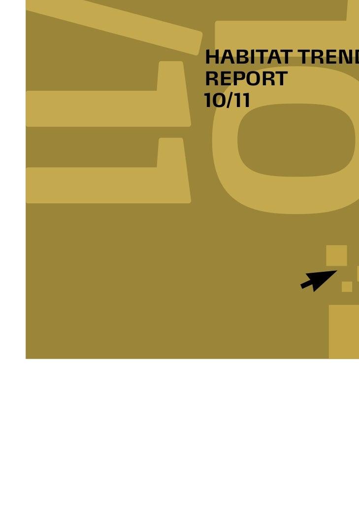 HABITAT TRENDS    REPORT    10/111