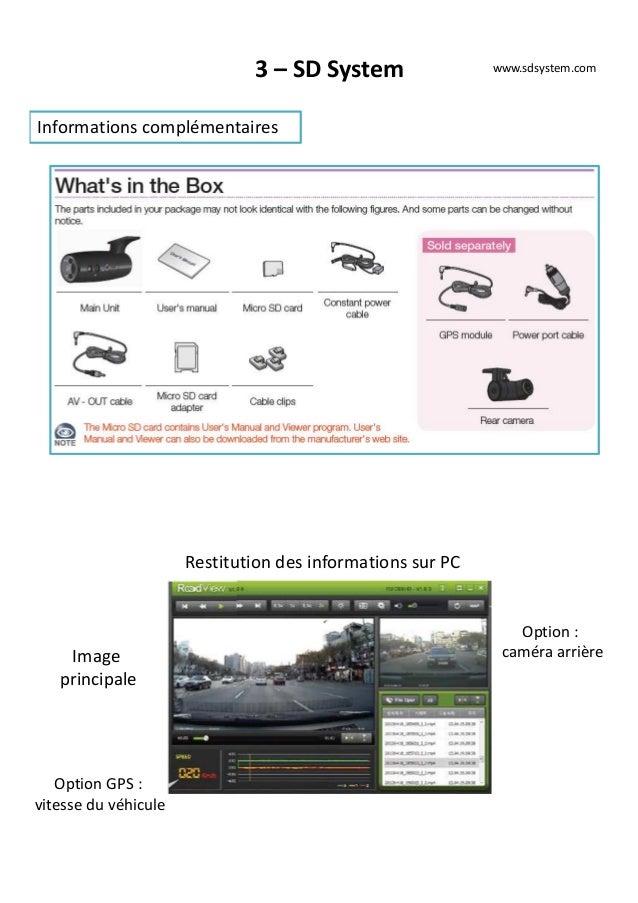 3 – SD System Informations complémentaires www.sdsystem.com Restitution des informations sur PC Image principale Option GP...