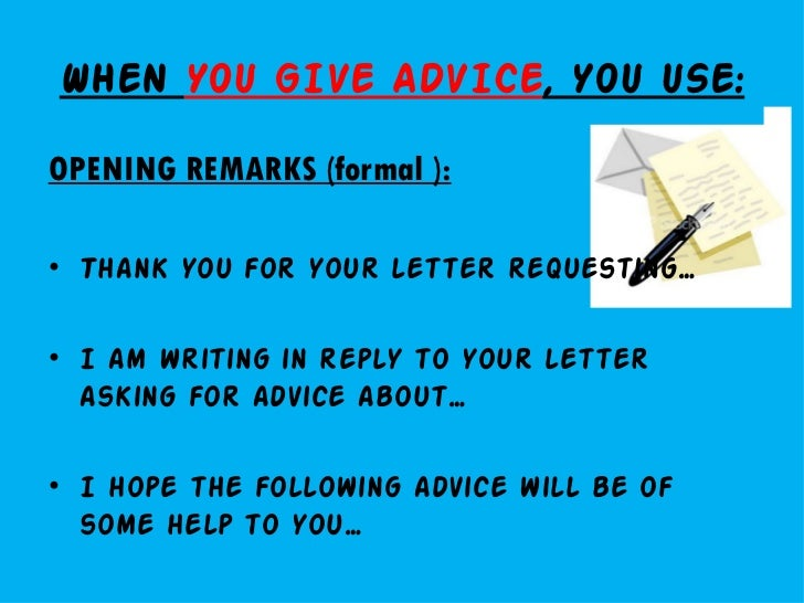 Letter writing givingasking for advice letters of complaint closing remarks informal 8 spiritdancerdesigns Images