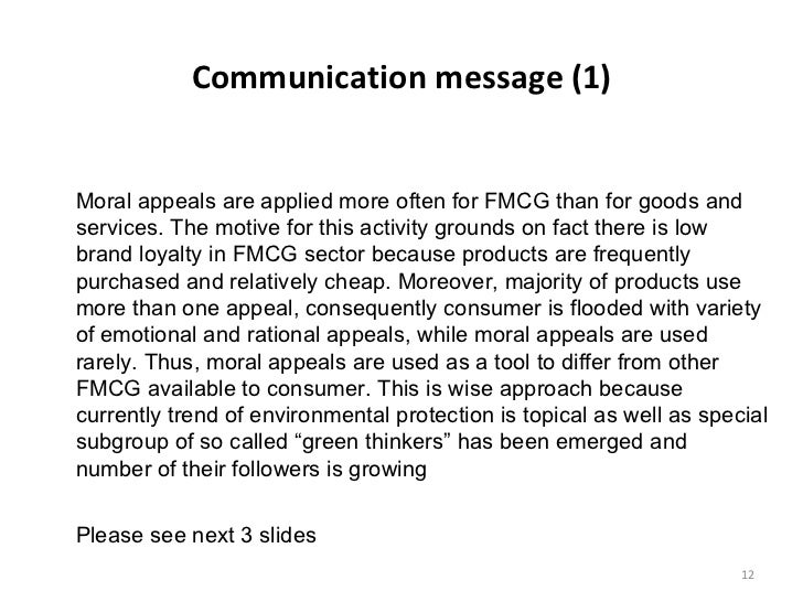 differences in applied marketing communications for fmcg goods and s  empirical findings and conclusions on major research question 12