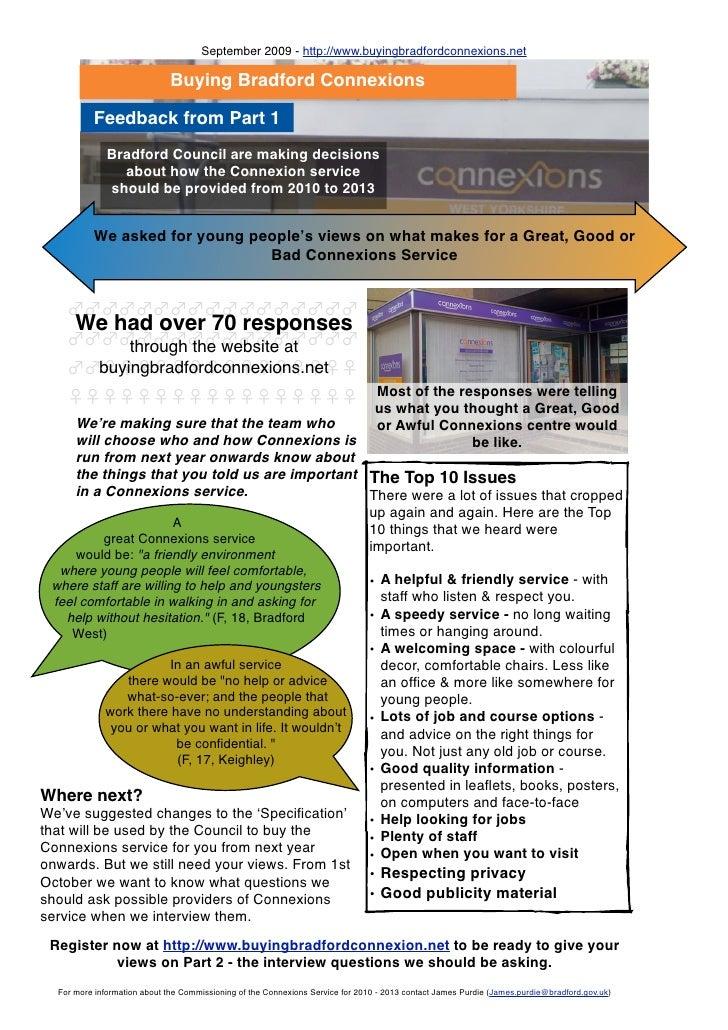 September 2009 - http://www.buyingbradfordconnexions.net                                Buying Bradford Connexions        ...