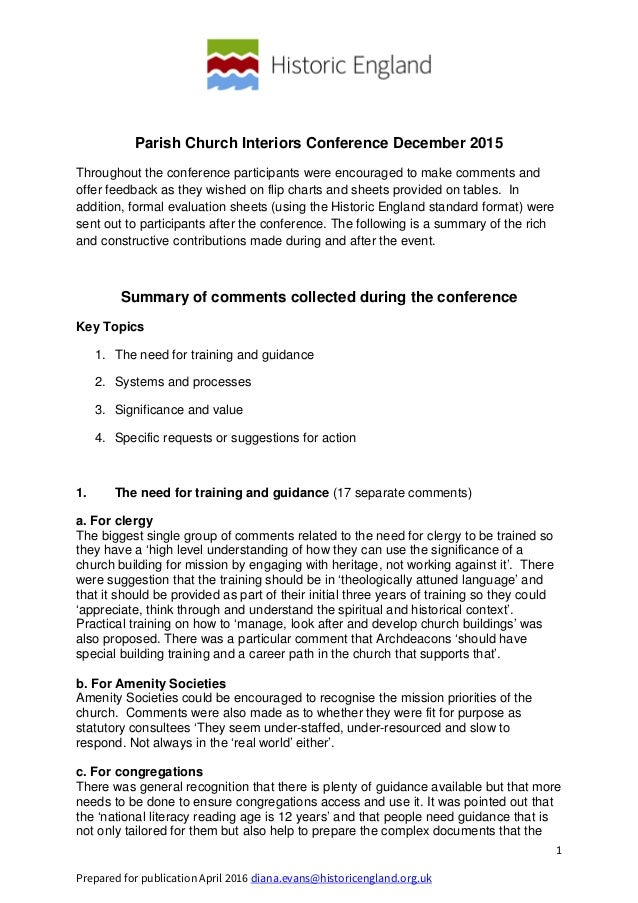 1 Prepared for publication April 2016 diana.evans@historicengland.org.uk Parish Church Interiors Conference December 2015 ...