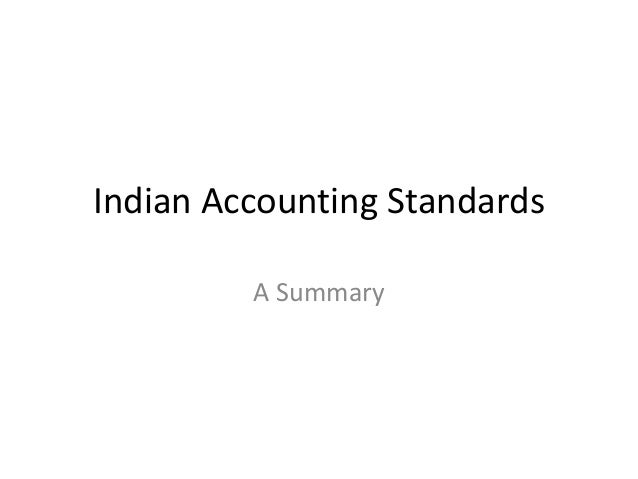 Indian Accounting Standards A Summary