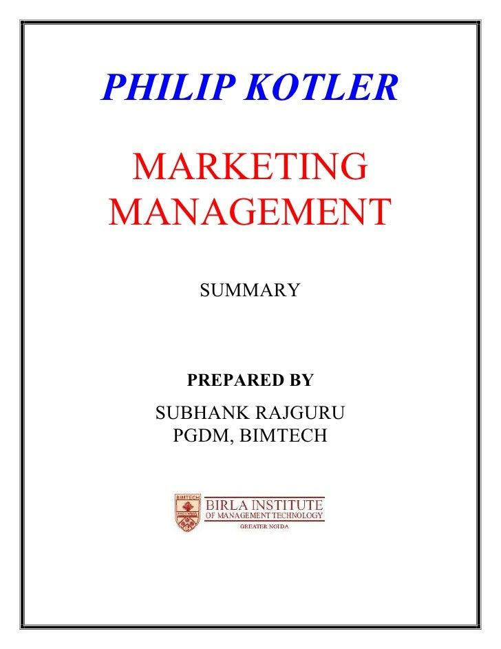 Summary Principles of Marketing Ibms
