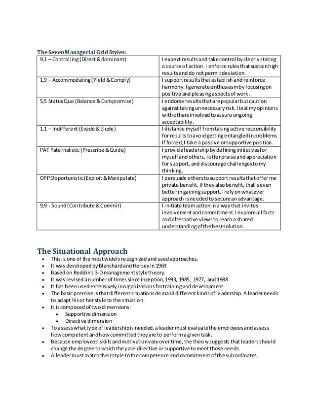 comparison of management theories Centre for leadership studies a review of leadership theory and competency frameworks edited version of a report for chase consulting and the management standards centre.