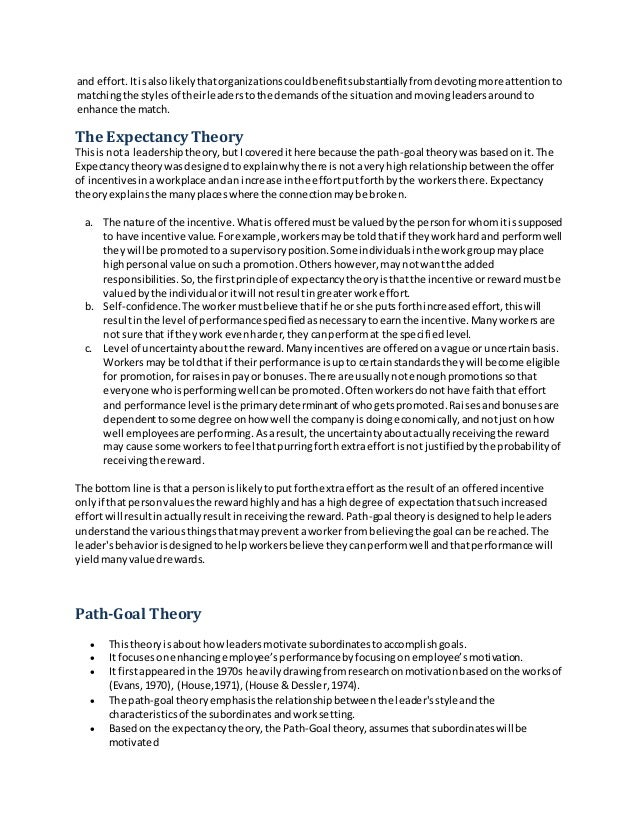 Essay On Leadership Theories this game, you
