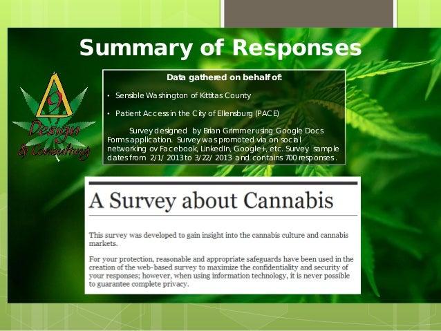 Summary of Responses                  Data gathered on behalf of:  • Sensible Washington of Kittitas County  • Patient Acc...