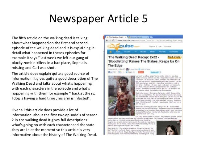 Summary Of The 5 Websites And News Paper Articles That I