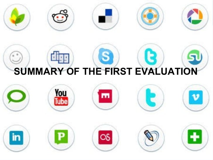 SUMMARY OF THE FIRST EVALUATION