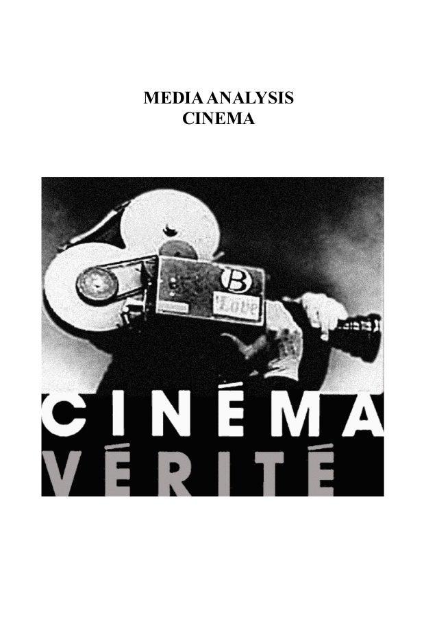 MEDIA ANALYSIS CINEMA