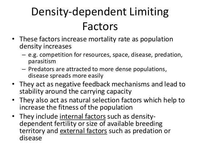 Density Dependent Natural Resources