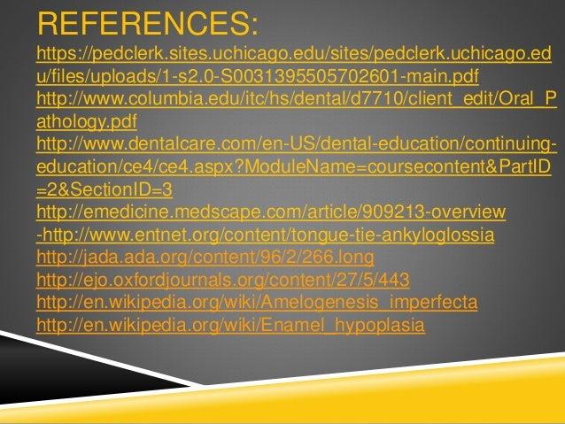 REFERENCES Pediatric Gastroenterology: A Color Handbook http://emedicine.medscape.com/article/1083849-overview http://www....