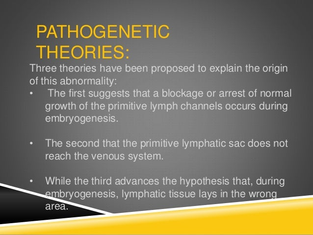 PATHOGENETIC THEORIES: Three theories have been proposed to explain the origin of this abnormality: • The first suggests t...