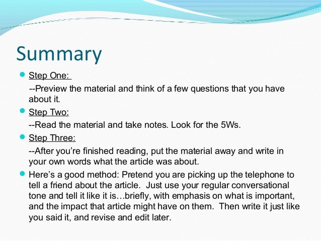 Paraphrase summarize quote powerpoint