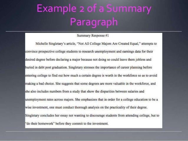 writing a summary response or critique