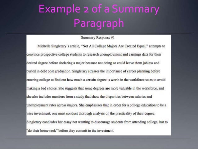Summary Response Essay   ppt video online download