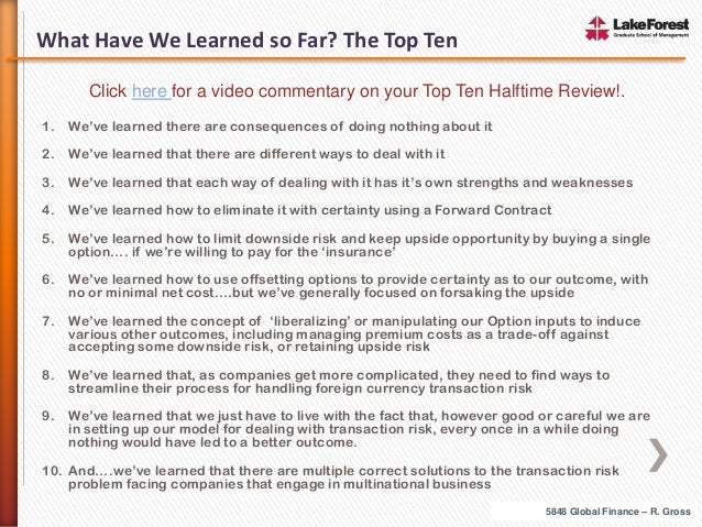 What Have We Learned so Far? The Top Ten Click here for a video commentary on your Top Ten Halftime Review!. 1.  We've lea...