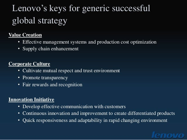 promotional strategies of lenovo Read this essay on marketing mix of lenovo come browse our large digital warehouse of free sample essays get the knowledge you need in order to pass your classes and more only at.