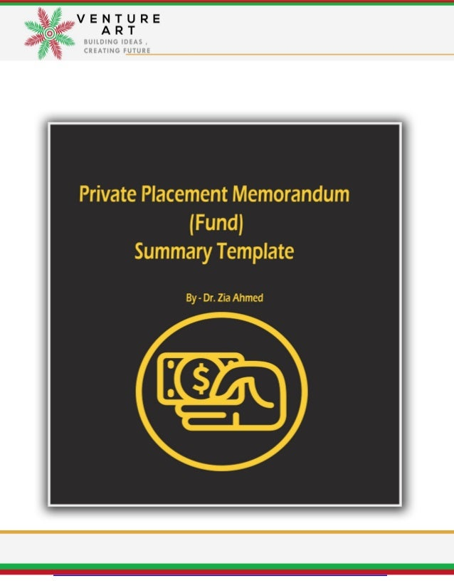 fund document summery tempelate