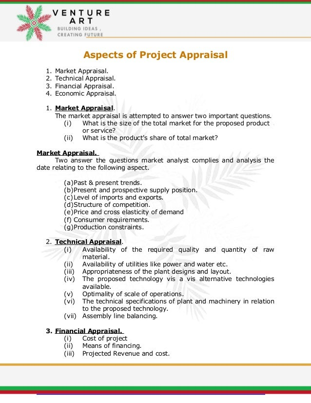 Feasibility Report  Project Appraisal Report Summery Template