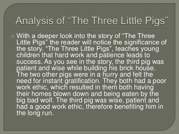 three little pigs analysis