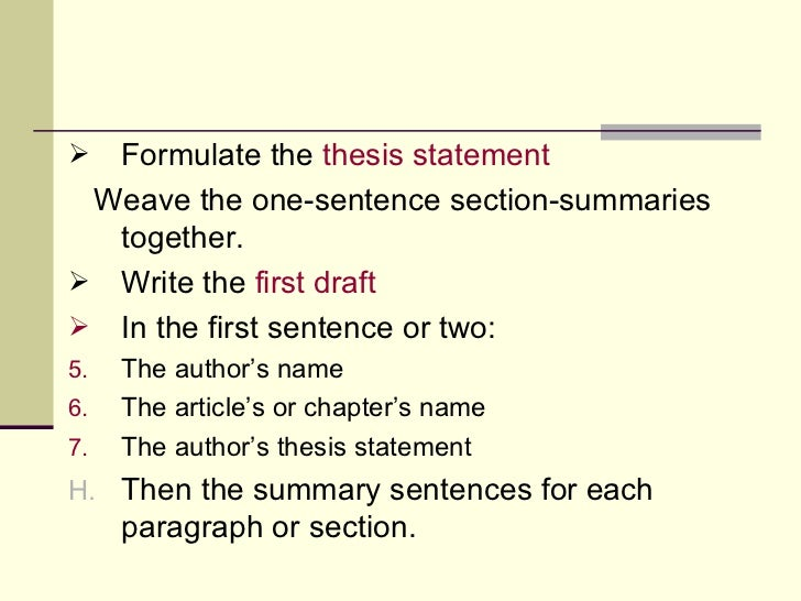 formulating a thesis When you are about to begin, writing a thesis seems a long, difficult task that is  because it is a long, difficult task fortunately, it will seem less daunting once.